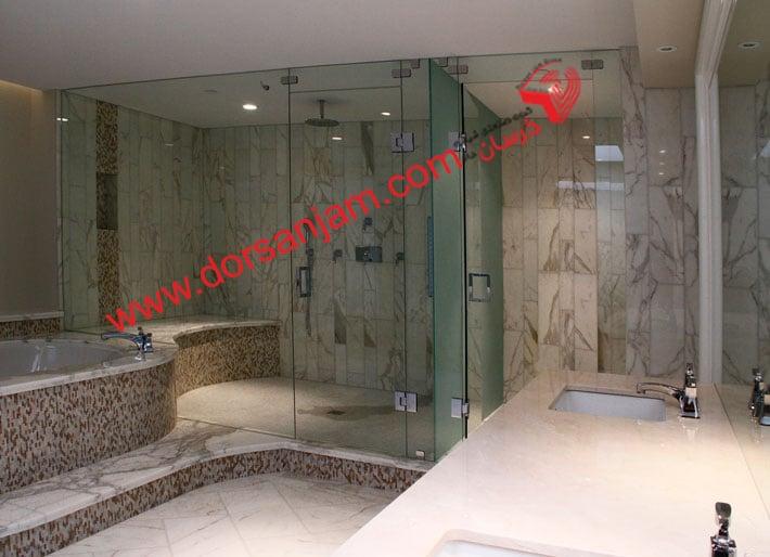 شیشه دوردوشی   شیشه حمام 1