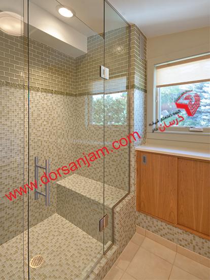 شیشه دوردوشی   شیشه حمام 5