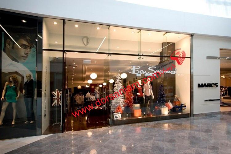 شیشه مغازه | اجرای شیشه فروشگاه 1