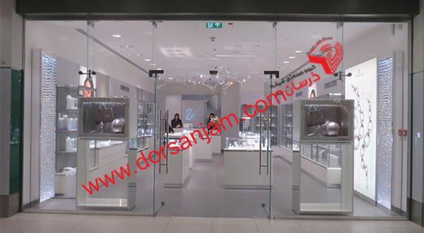 اجرای شیشه مغازه