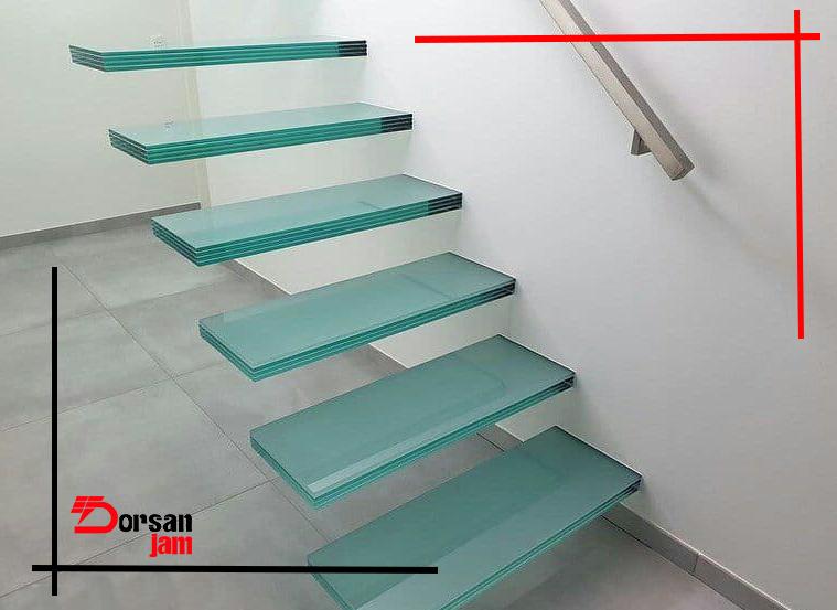 کف پله با شیشه میرال