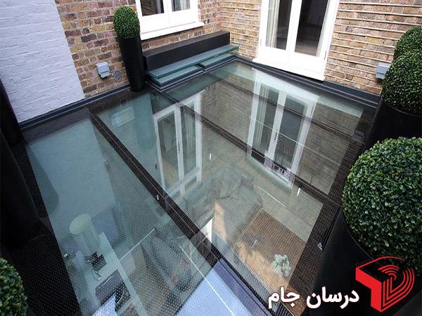 شیشه لمینیت برای کف و سقف