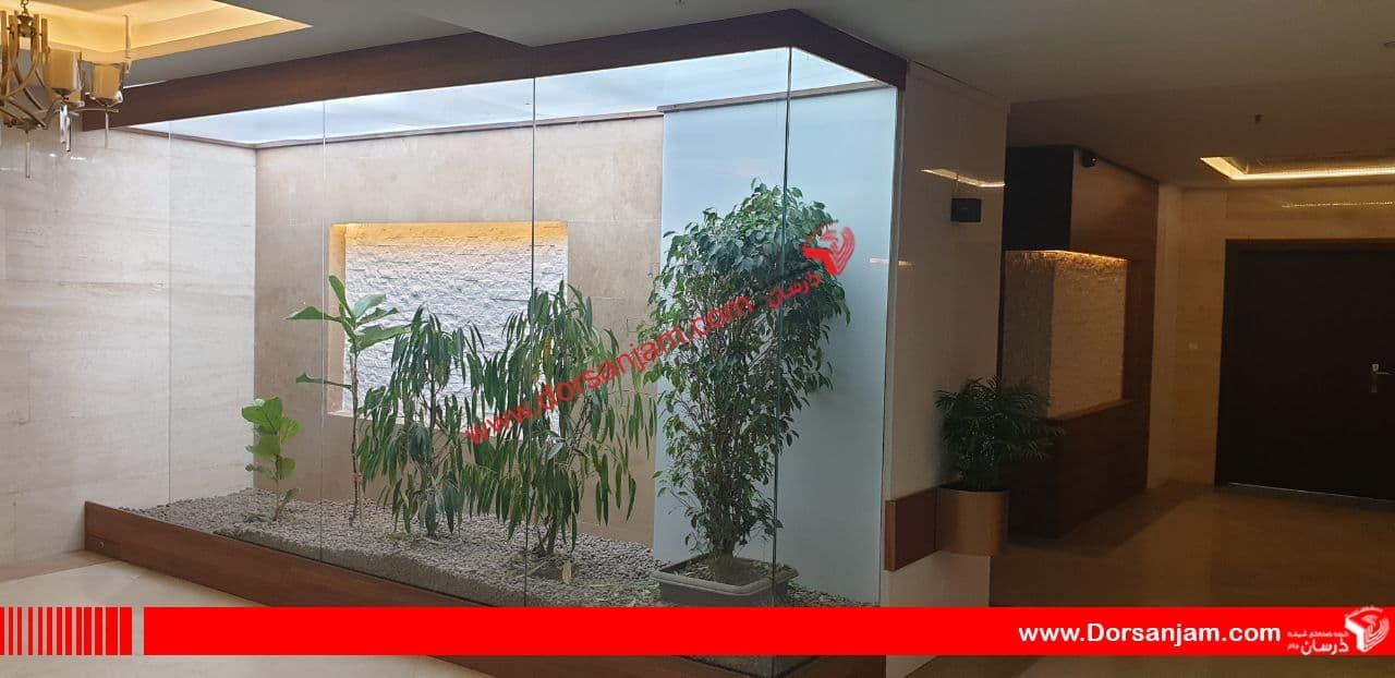 نصب گلخانه شیشه ای آپارتمانی