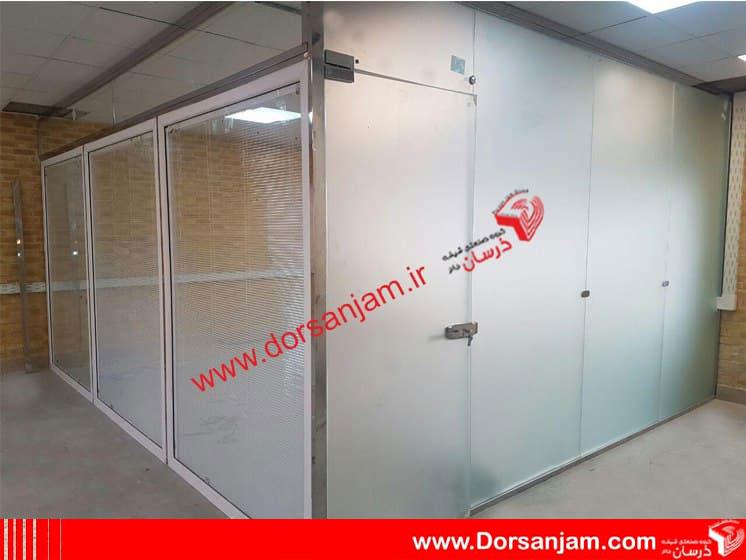 پارتیشن شیشه ای دو جدار کرکره دار 1