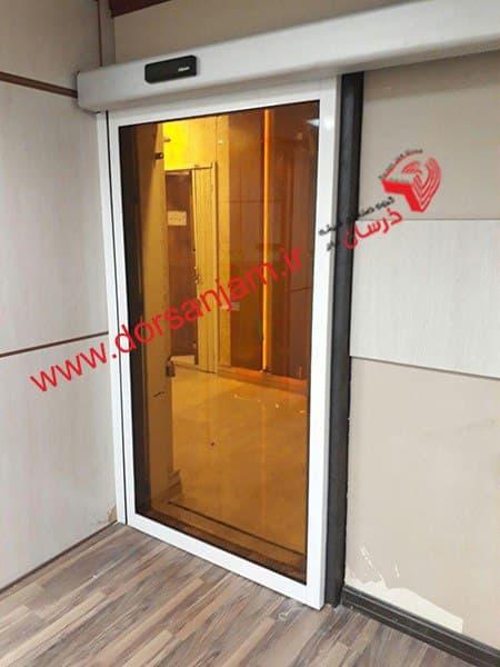 Automatic bronze glass door